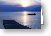 Hour Greeting Cards - Lake Maggiore Greeting Card by Joana Kruse