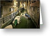 Venice Waterway Greeting Cards - Venezia Greeting Card by Joana Kruse