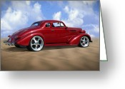 Hot Rod Greeting Cards - 37 Chevy Coupe Greeting Card by Mike McGlothlen