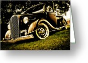 D700 Greeting Cards - 37 Ford Pickup Greeting Card by Phil