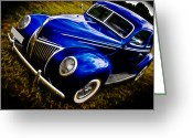 Motography Greeting Cards - 39 Ford V8 Coupe Greeting Card by Phil 