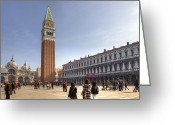 Procuratie Nove Greeting Cards - Venezia Greeting Card by Joana Kruse