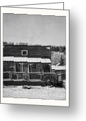 Dawson City Greeting Cards - 3th Avenue Greeting Card by Priska Wettstein