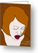 Pain Greeting Cards - A Woman Greeting Card by Frank Tschakert
