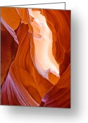 Southwest Greeting Cards - Antelope Canyon Greeting Card by Carl Amoth