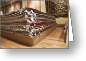 Merchandise Photo Greeting Cards - Area Rugs in a Store Greeting Card by Jetta Productions, Inc