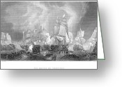 Lord Admiral Nelson Greeting Cards - Battle Of Trafalgar, 1805 Greeting Card by Granger