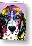 Animal Art Greeting Cards - Beagle Greeting Card by Dean Russo