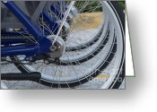 Bike Riding Greeting Cards - Bicycles Greeting Card by Blink Images