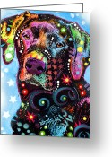 Black  Greeting Cards - Black Lab Greeting Card by Dean Russo