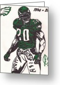 Philadelphia  Drawings Greeting Cards - Brian Dawkins Greeting Card by Jeremiah Colley