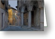 Traffic Greeting Cards - Cannobio - Italy Greeting Card by Joana Kruse