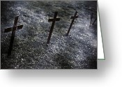 Graves Greeting Cards - Cemetery Greeting Card by Joana Kruse