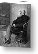 Biologist Greeting Cards - Charles Robert Darwin Greeting Card by Granger