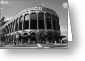 Clouds Posters Greeting Cards - Citi Field - New York Mets Greeting Card by Frank Romeo