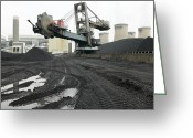 Most Greeting Cards - Coal Supplies For A Power Station Greeting Card by Colin Cuthbert