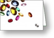 Shiny Jewelry Greeting Cards - Colorful Gems Greeting Card by Setsiri Silapasuwanchai