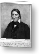 Signature Photo Greeting Cards - Davy Crockett (1786-1836) Greeting Card by Granger