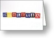 Disability Greeting Cards - Dyslexia Greeting Card by Photo Researchers, Inc.
