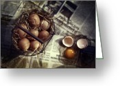 Stable Greeting Cards - Eggs Greeting Card by Joana Kruse