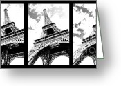 Poster Photo Greeting Cards - Eiffel tower Greeting Card by Elena Elisseeva