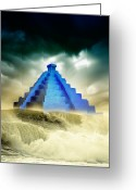 Prediction Greeting Cards - End Of The World In 2012 Conceptual Image Greeting Card by Victor Habbick Visions