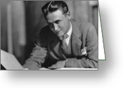 Scott Greeting Cards - F. Scott Fitzgerald Greeting Card by Granger