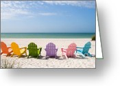 Tropical Island Photo Greeting Cards - Florida Sanibel Island Summer Vacation Beach Greeting Card by ELITE IMAGE photography By Chad McDermott