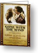 Advertisement Greeting Cards - Gone With The Wind, 1939 Greeting Card by Granger