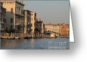 Tourist Pyrography Greeting Cards - Grand Canal. VENICE Greeting Card by Bernard Jaubert