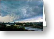 Harlem River Greeting Cards - Great Sky Greeting Card by Theodore Jones