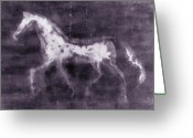 Duotone Greeting Cards - Horse Greeting Card by Julie Niemela