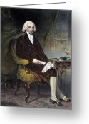 Republican Greeting Cards - James Madison (1751-1836) Greeting Card by Granger