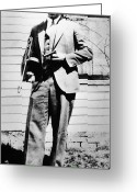 Tommy Gun Greeting Cards - John Dillinger 1903-1934 Greeting Card by Granger