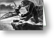 Movie Star Greeting Cards - King Kong, 1933 Greeting Card by Granger