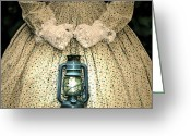 Stair Walk Greeting Cards - Lantern Greeting Card by Joana Kruse