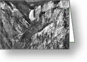 Lower Yellowstone Falls Greeting Cards - Lower Yellowstone Falls Greeting Card by Stephen  Vecchiotti