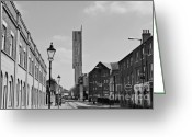 New Britain Greeting Cards - Manchester - Beetham Tower Greeting Card by Hristo Hristov