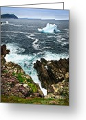 Melt Greeting Cards - Melting iceberg Greeting Card by Elena Elisseeva