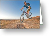 Prowess Greeting Cards - Mountain Bike Greeting Card by Mark Weber