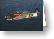 Texan Greeting Cards - North American Aviation T-6 Texan Greeting Card by Daniel Karlsson