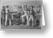 Cannonball Greeting Cards - Oliver Hazard Perry Greeting Card by Granger