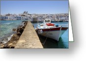 Dam Greeting Cards - Paros - Cyclades - Greece Greeting Card by Joana Kruse