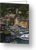 Destination Greeting Cards - Portofino in the Italian Riviera in Liguria Italy Greeting Card by David Smith