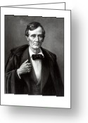 Great Mixed Media Greeting Cards - President Lincoln Greeting Card by War Is Hell Store