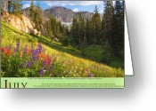 Mountainous Greeting Cards - Published by Utah Office of Tourism Greeting Card by Utah Images