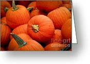 Groceries Greeting Cards - Pumpkins Greeting Card by Elena Elisseeva