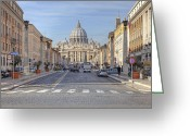 Vatican City Greeting Cards - Rome - St. Peters Basilica Greeting Card by Joana Kruse