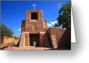 Santa Fe Greeting Cards - Santa Fe - San Miguel Chapel Greeting Card by Frank Romeo