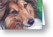Sheltie Greeting Cards - Shetland Sheepdog Greeting Card by Lee Ann Shepard